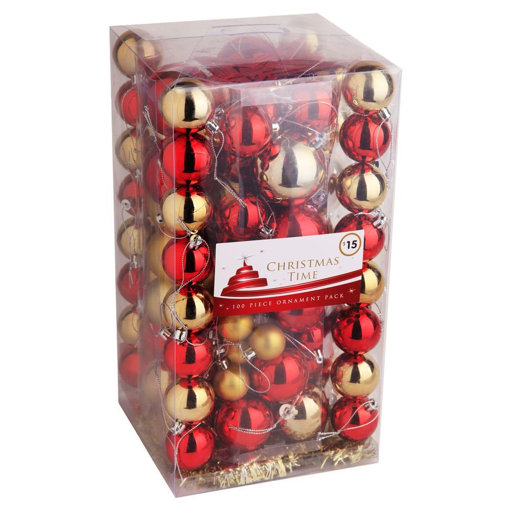 100 Pack Bauble Set - Brights $15.00