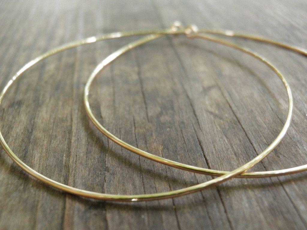 Huge Gold Hoops Earrings, Simple XXL Large 6 cm/2.5 inch Earrings ...