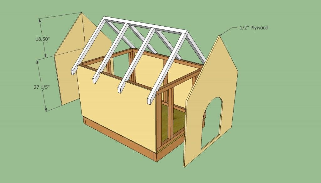 Dog House Plans Free Howtospecialist How To Build Step By Step Diy Plans Wooden Dog House Dog House Plans Dog House Diy