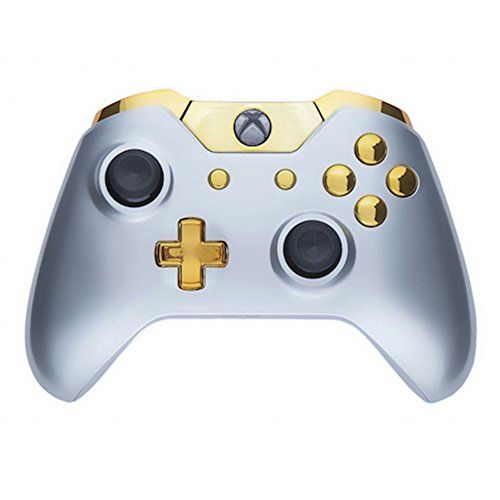 ModFreakz Shell Kit Gloss Silver Gold For Xbox One Model