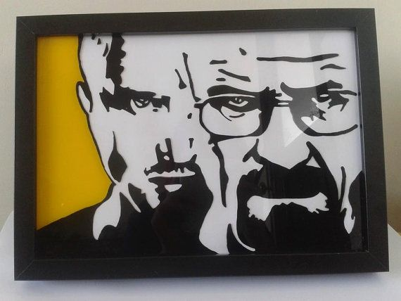 Walter White and Jesse Pinkman from Breaking Bad framed glass ...