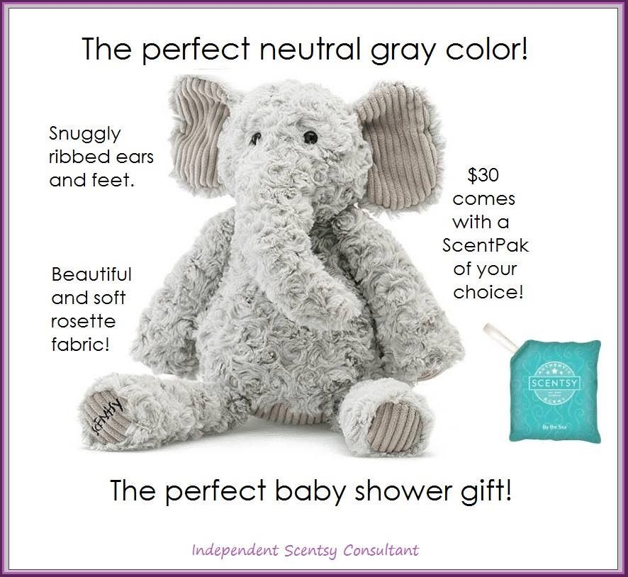 d1d252d57f Scentsy s  Eliza the Elephant  LIMITED EDITION stuffed animal Scentsy  Buddy. NEW in October 2017. Includes your choice of fragrance Scent Pak.