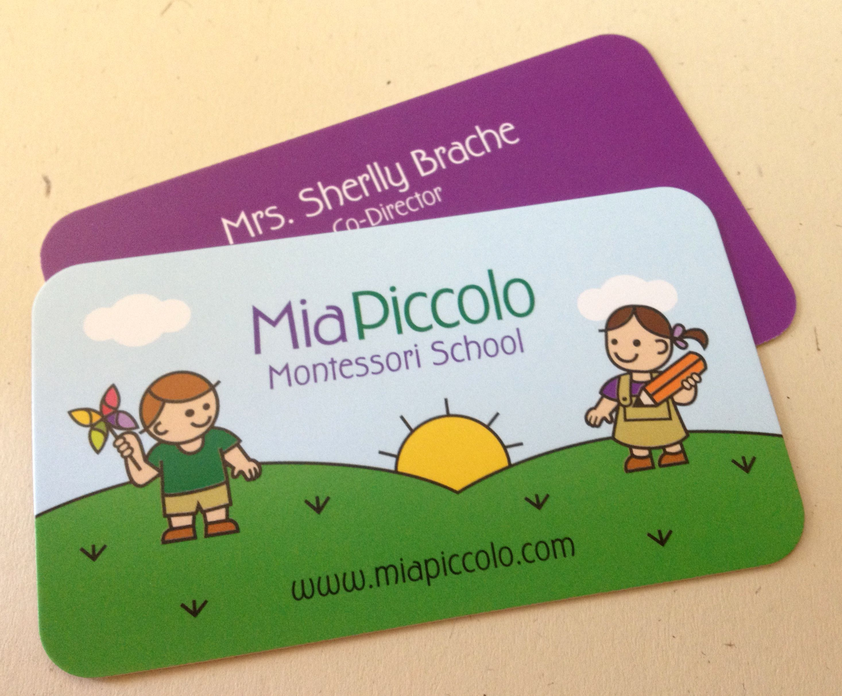 Business cards for montessori school beautiful business cards business cards for montessori school reheart Choice Image