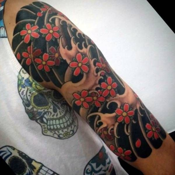 100 Cherry Blossom Tattoo Designs For Men: 131 Best Japanese Tattoos Meanings, Ideas, And Designs