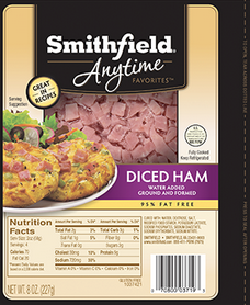 Smithfield Anytime Favorites Cubed or Diced Ham ONLY 15