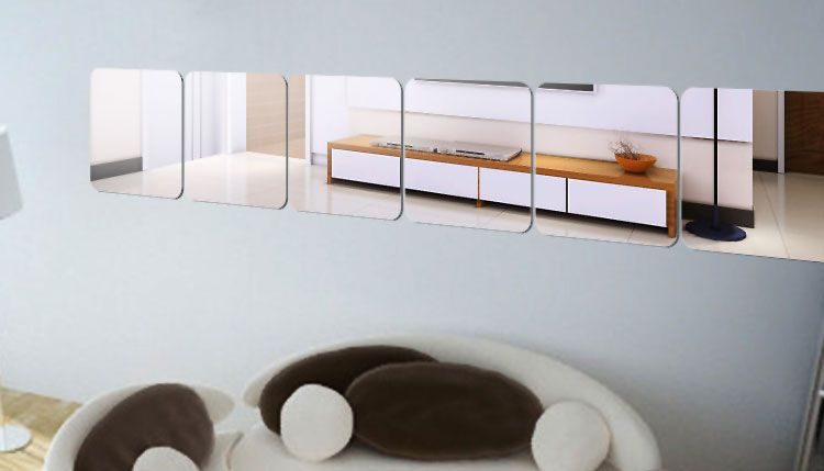 Specchi adesivi decorativi per pareti dal design particolare idee casa pinterest mirror - Specchi adesivi per pareti ...