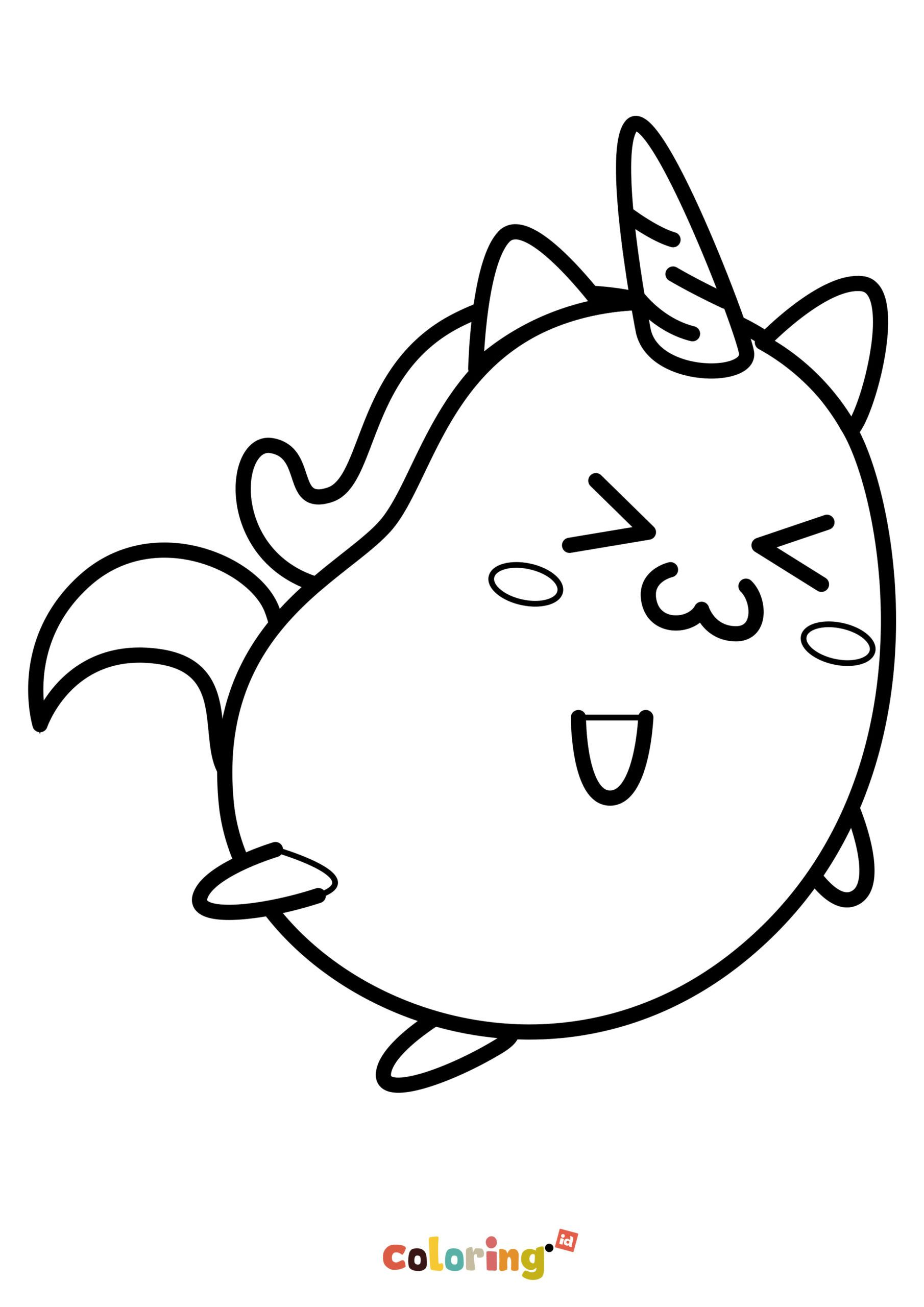 Cute Unicorn Kawaii Coloring Page Hey Kids Lets Print Unicorn Coloring Pages For Preschool Kindergarte In 2020 Unicorn Coloring Pages Coloring Pages Coloring Books