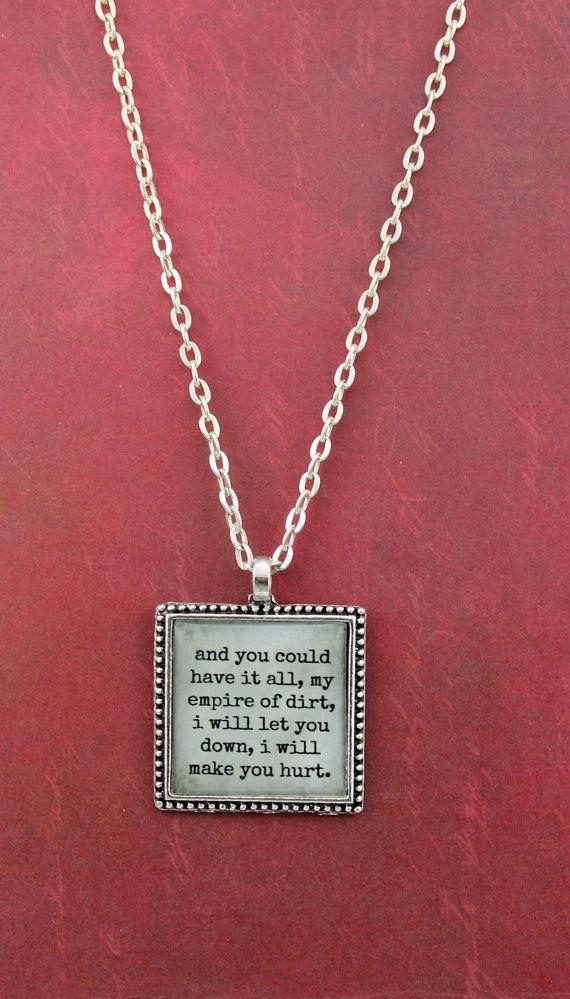Hurt Lyrics Necklace Nine Inch Nails by ShakespearesSisters, $9.00 ...