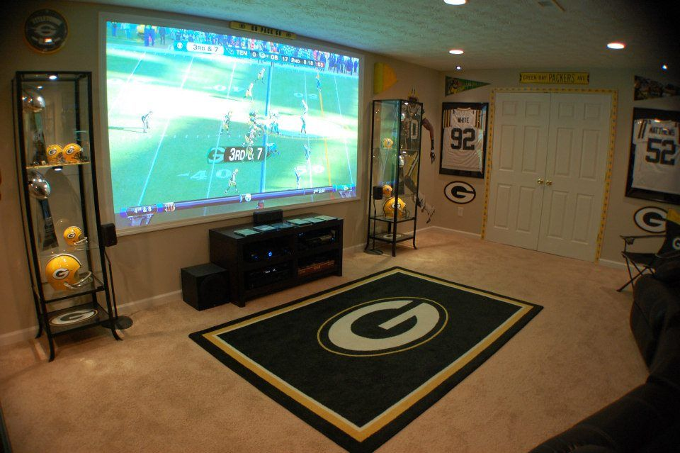Man Cave Ideas Football : My packers man cave aka the drew packer heaven