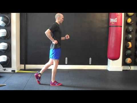 this exercise further challenge's the runner's postural