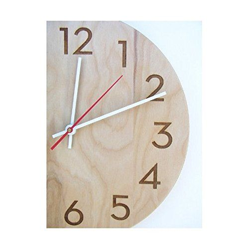 Amazon Com Modern Wall Clock By Uncommon Handmade Natural Birch Wood Wall Clocks Wall Clock Wall Clock Modern Wood Wall Clock