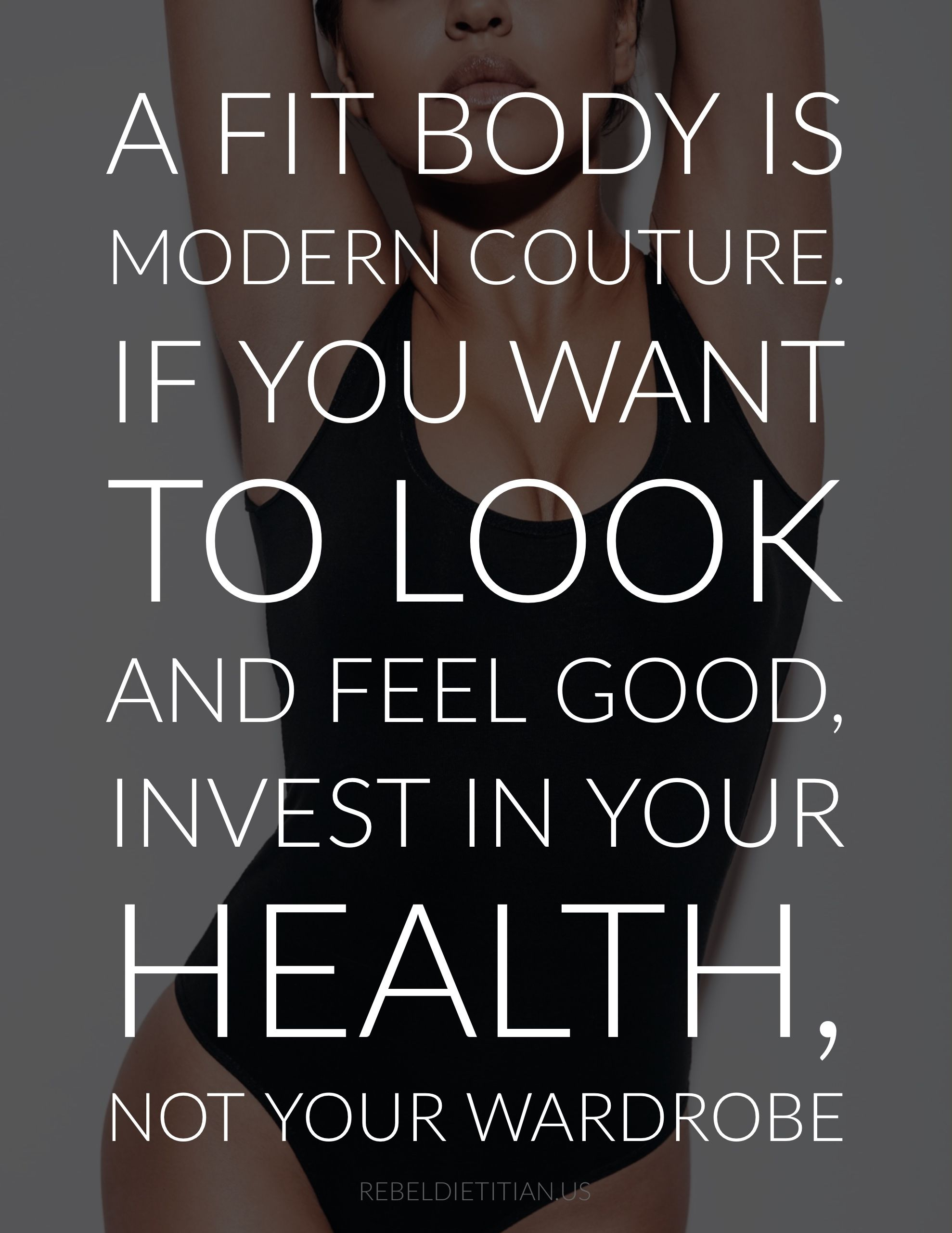 A fit body is modern couture