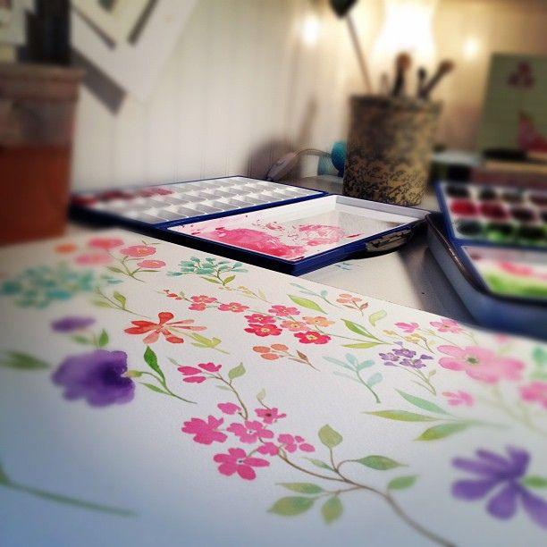What I'm working on. by Stephanie Ryan Art, via Flickr