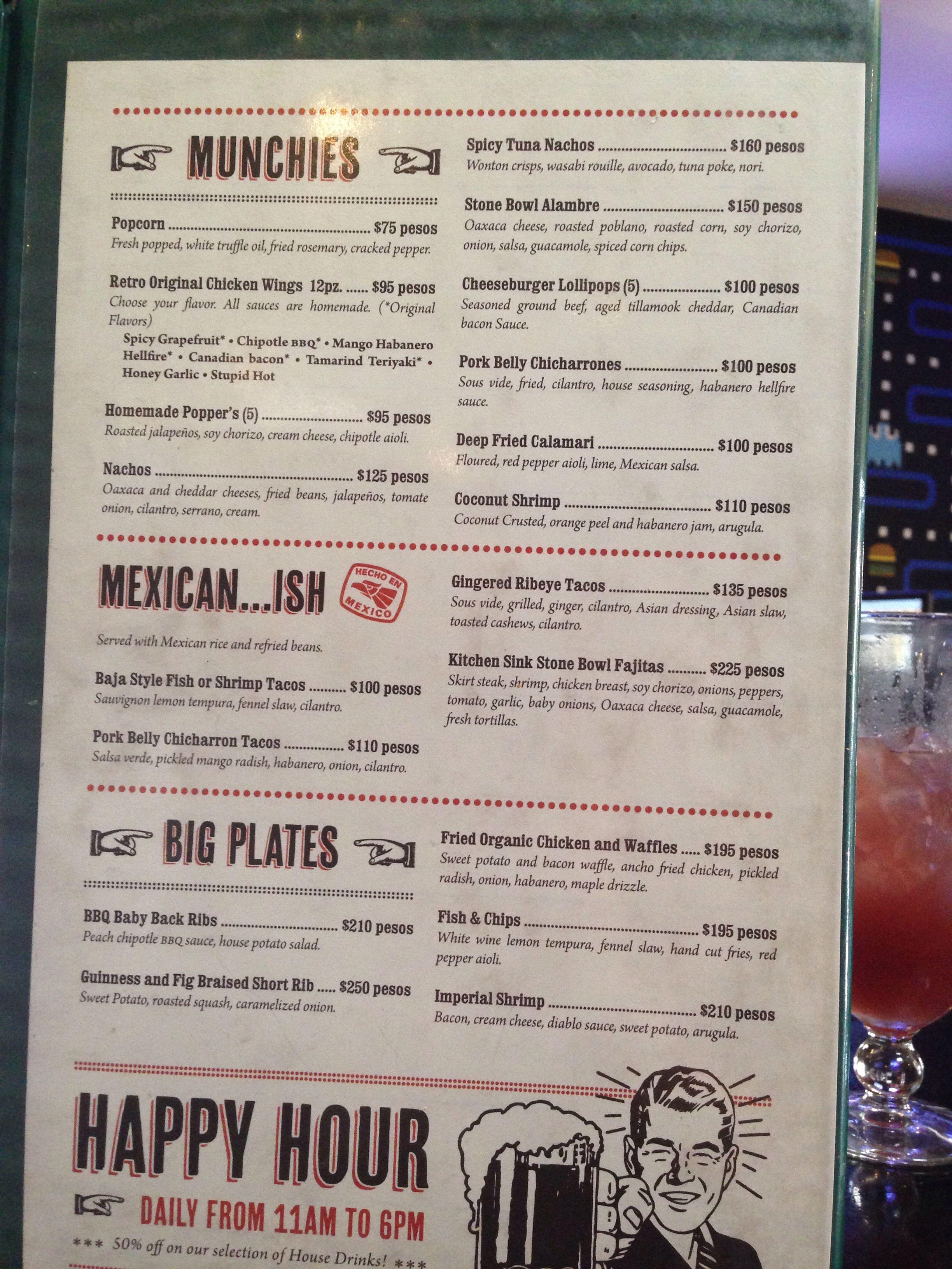 part 2 of menu - the retro burger bar san jose del cabo - 5 min from
