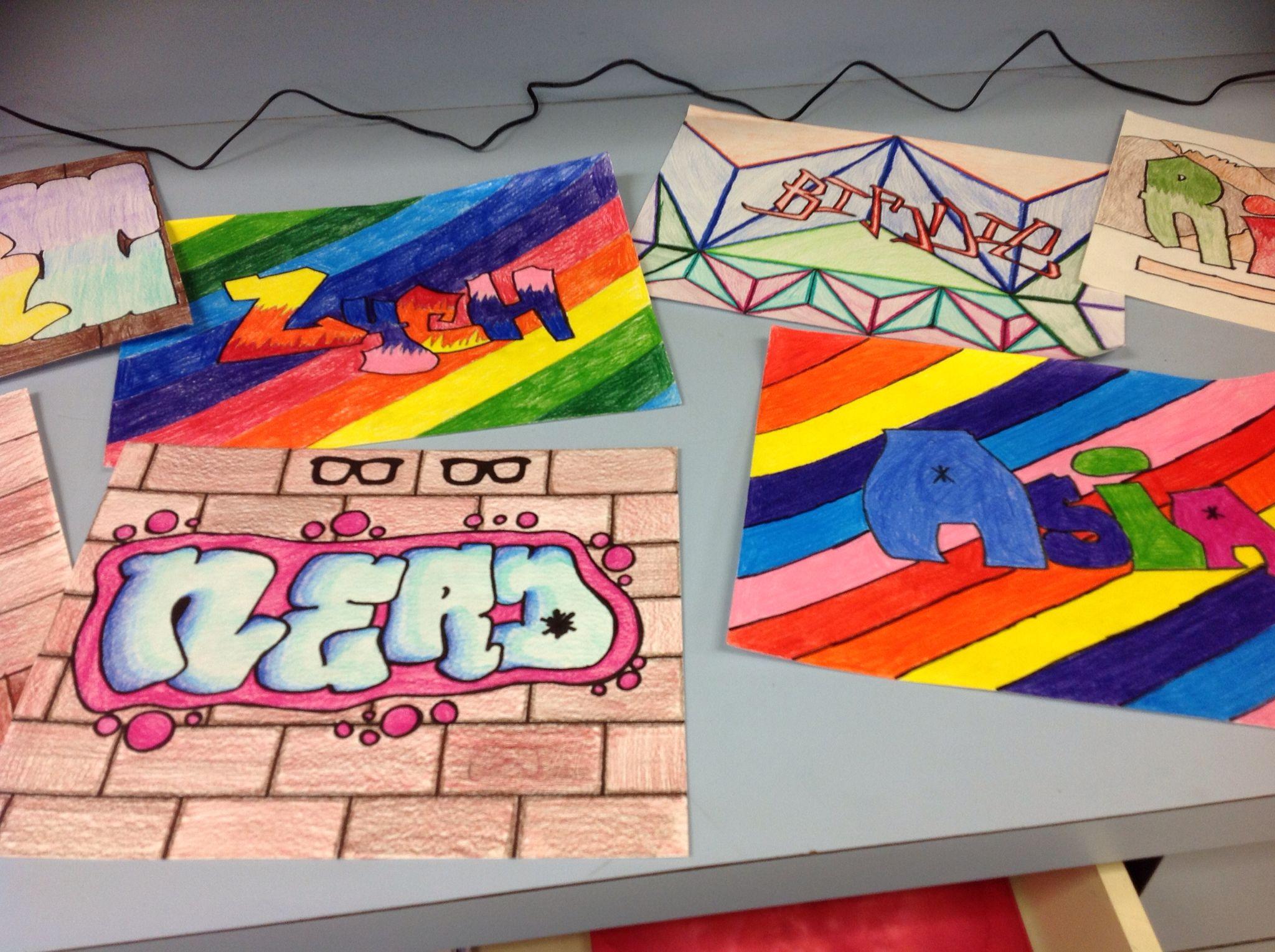 No art 8th grade graffiti art