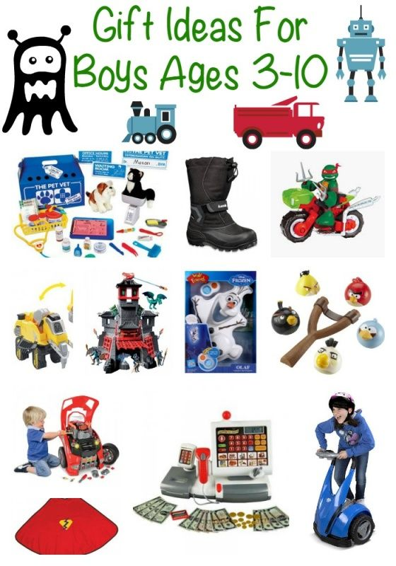 Boys gift guide ages 3-10 neat christmas gift ideas or birthday ...