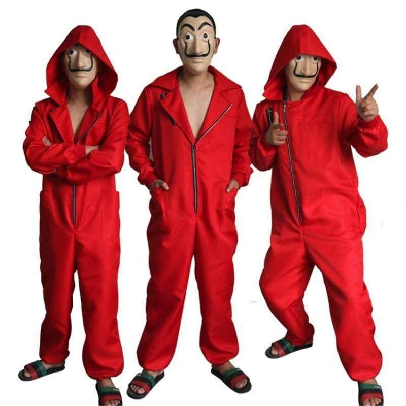 Movie House Of Paper La Casa De Papel Salvador Dali Mask Cosplay Halloween Suits Halloween Bodysuit Cosplay Costumes