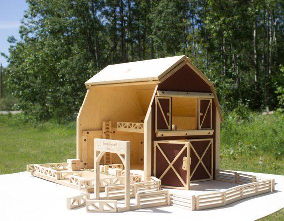 Big Red Barn Farm Toy Set Large Barn Set Barn Play Barn