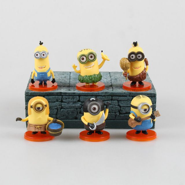 6pcsset 56 cm Anime Figure Cartoon Despicable Me Minions PVC