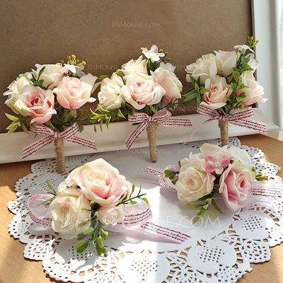 Us 1399 artificial silk flower sets set of 2 wrist corsage us 1399 artificial silk flower sets set of 2 wrist mightylinksfo