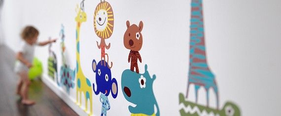 Jiving Jungle Animal Pals Reusable Fabric Wall by popandlolli -- So Fantastic!