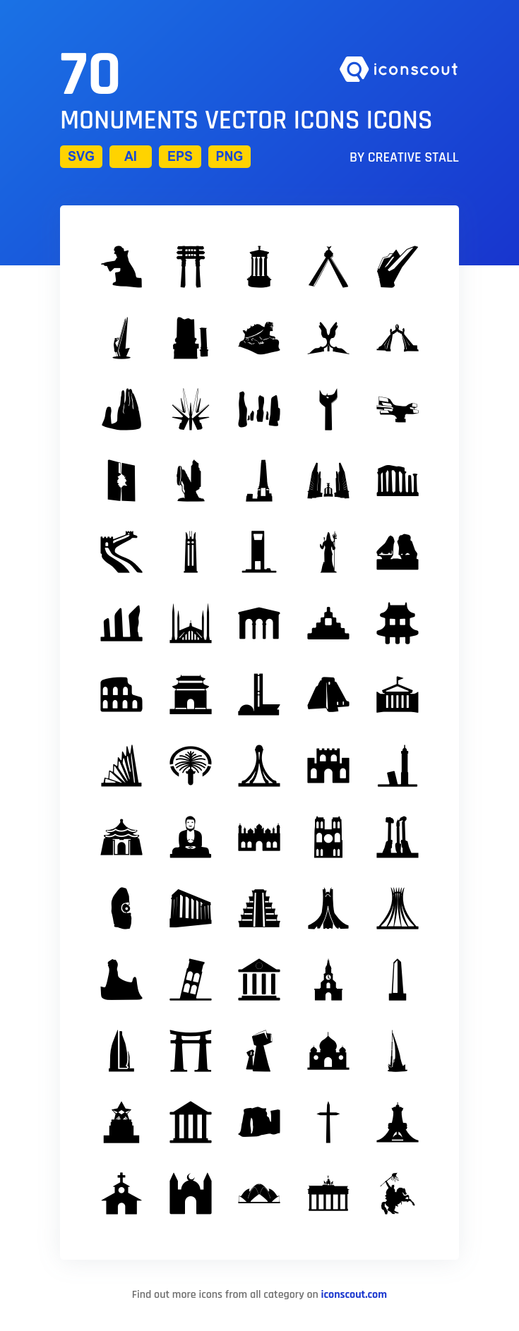 Download Monuments Vector Icons Icon pack Available in