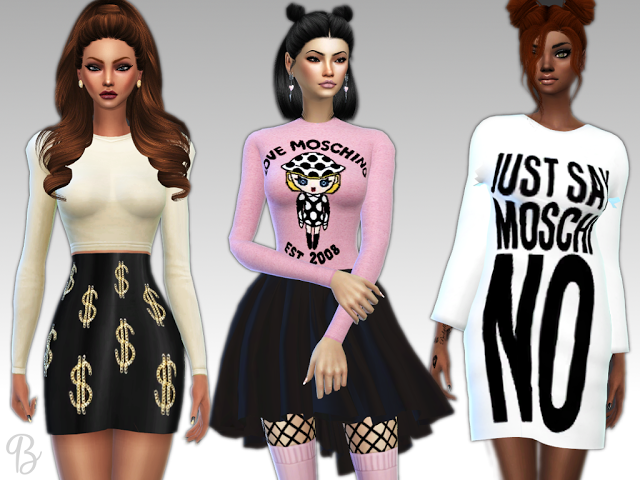 Sims 4 CC's - The Best: MOSCHINO SET by blue8whitewolfcreation