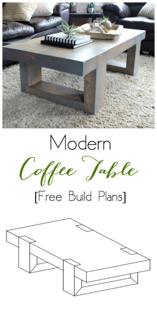 modern coffee table woodworking