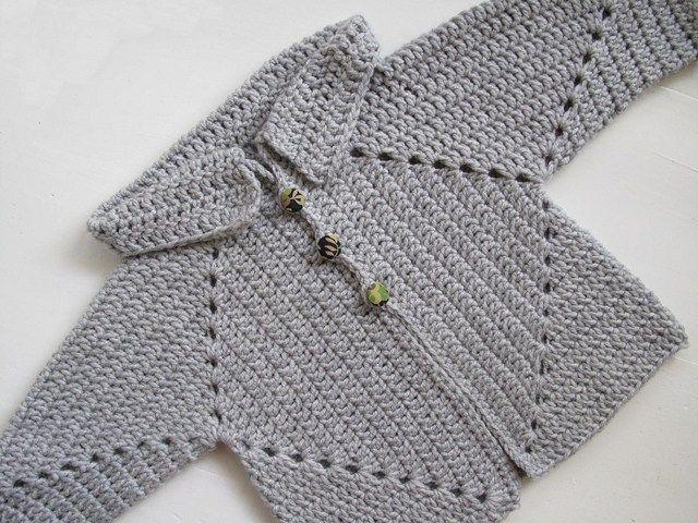 Sue\'s No Hole\'s Hexagon Baby Sweater Free Crochet Pattern   BEBES ...
