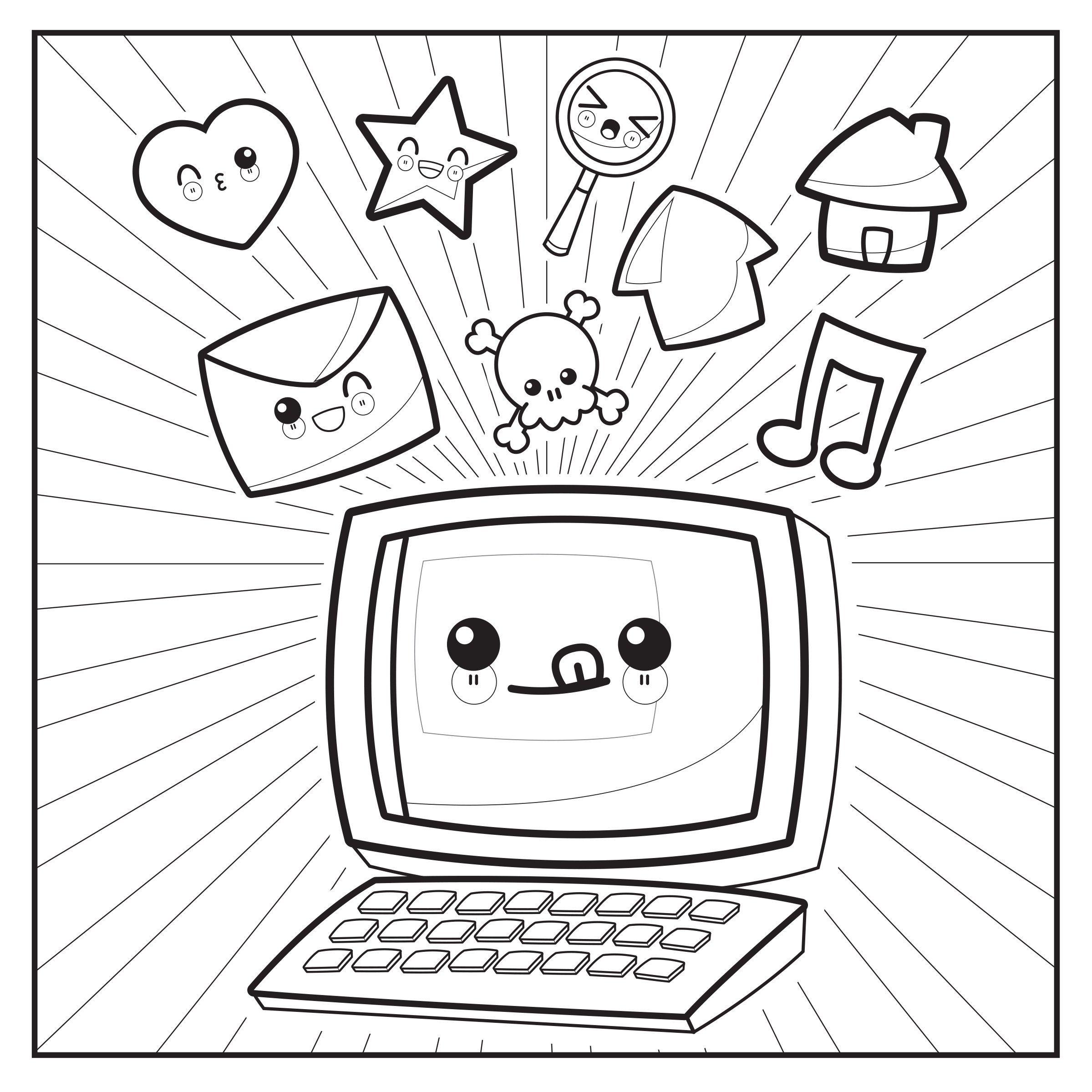 Amazon.com: Emoji Crazy Coloring Book 48 Cute, Fun Pages: For ...