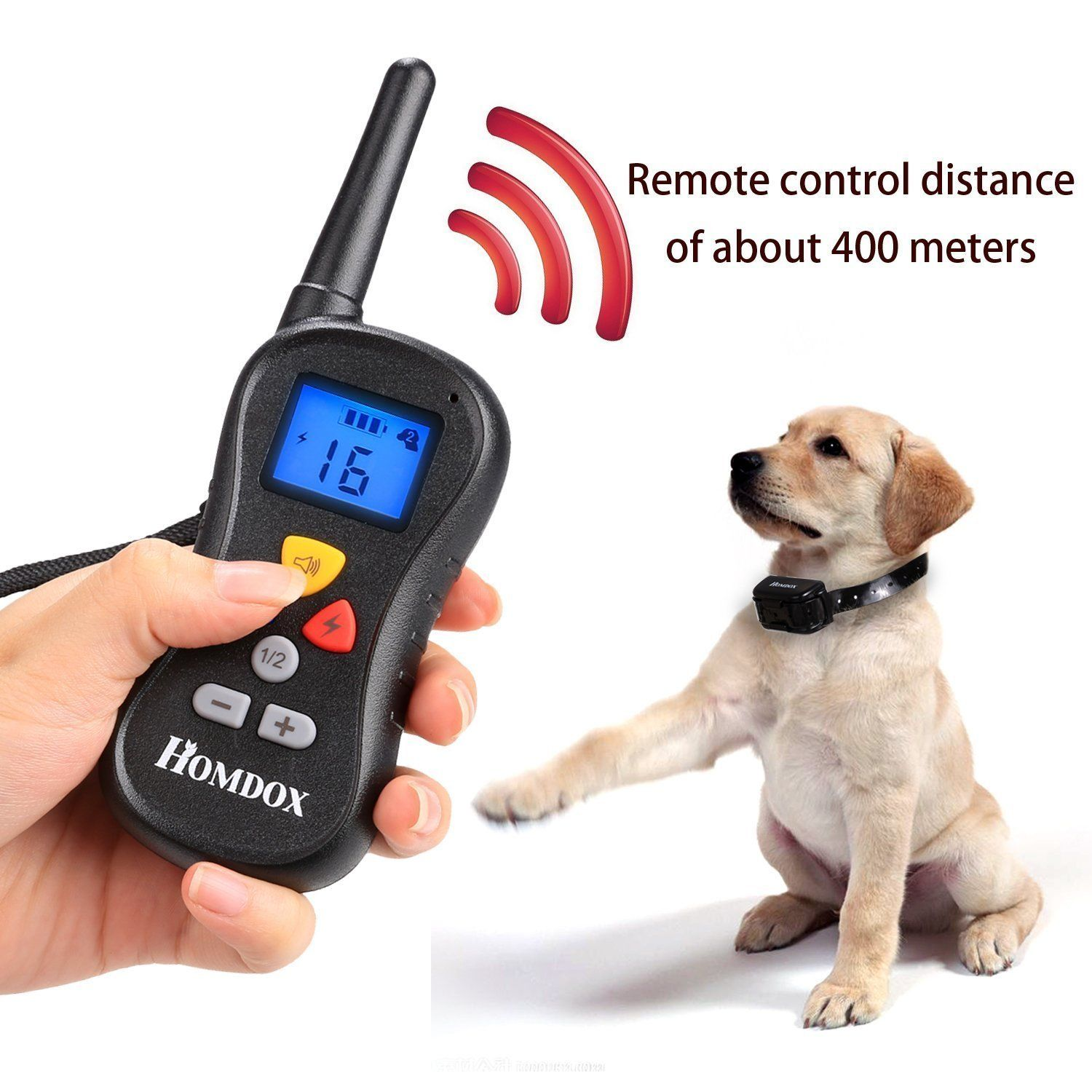 Homdox Remote Controlled 430yards Shock Collar For Dogs