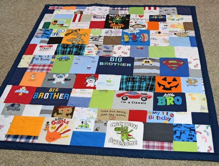 Quilt made from baby clothes   Tshirt Quilts   Pinterest   Babies ... : quilting for babies - Adamdwight.com