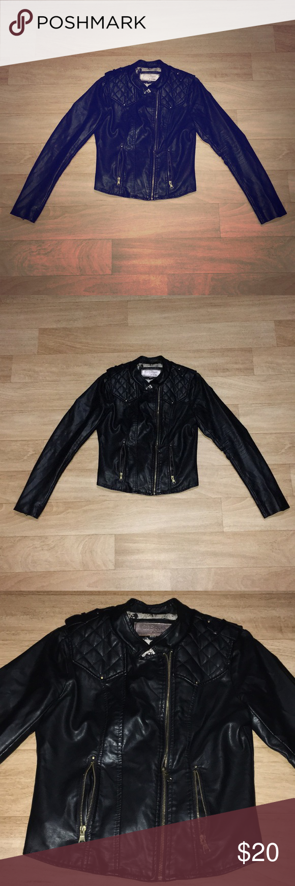 Ci Sono By Cavalini Vegan Leather Jacket Vegan Leather Jacket Fashion Clothes Design