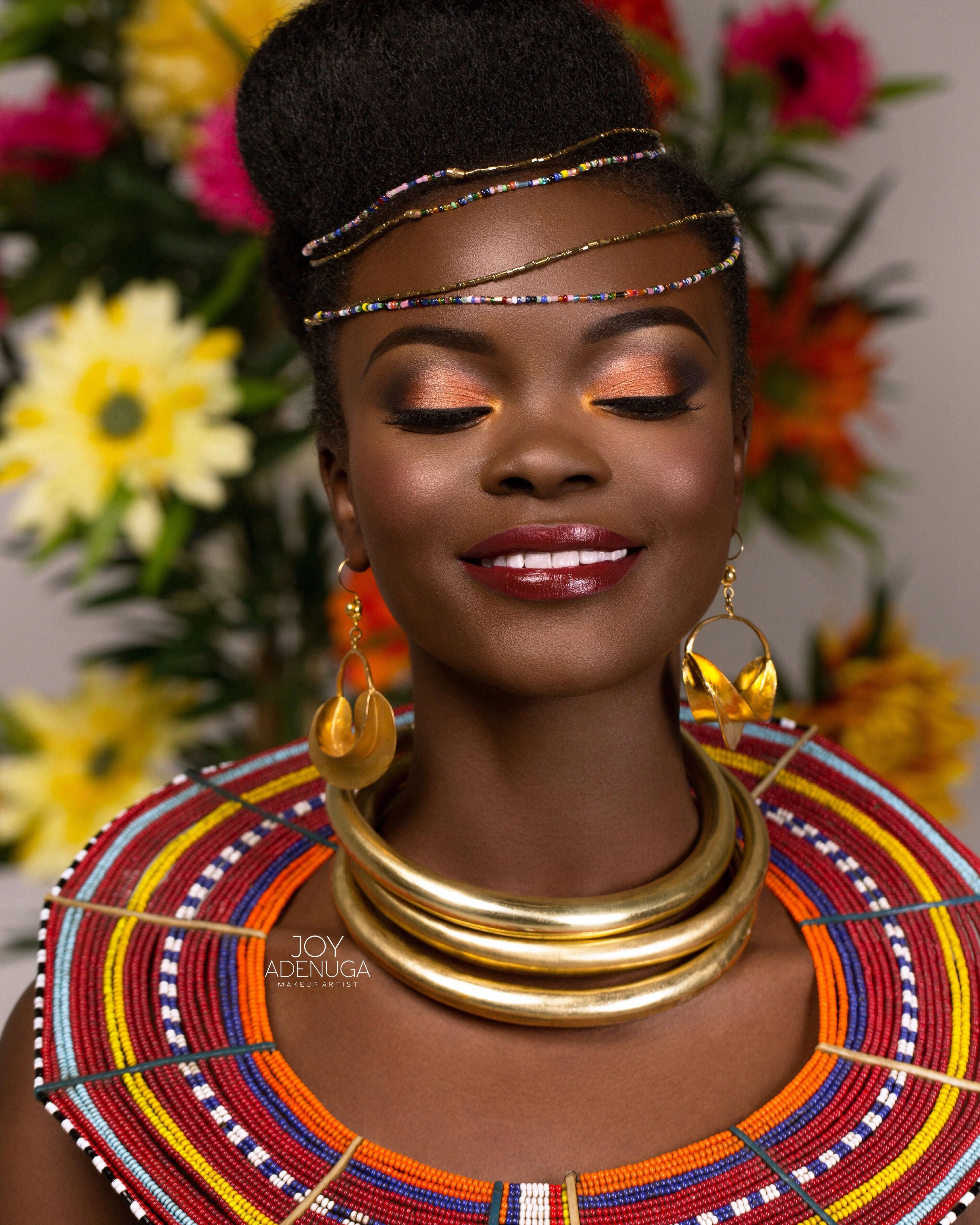Muse image by Jamila Parker in 2020 African makeup