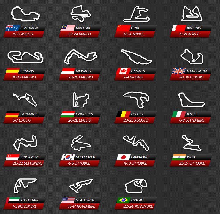 Calendario Formula1.Calendario F1 2013 Calendar For 2013 All The Tracks And Dates F1