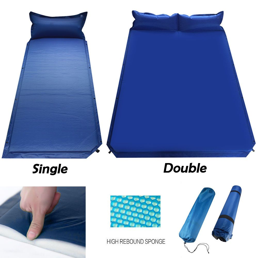 Outdoor Camping Self Inflating Air Mat Mattress Pad Pillow Hiking Sleeping Bed Sporting Goods Outdoor Sports Camping Hiking Ebay Acampamento