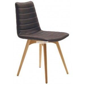 étourdissant chaise bois cuir design