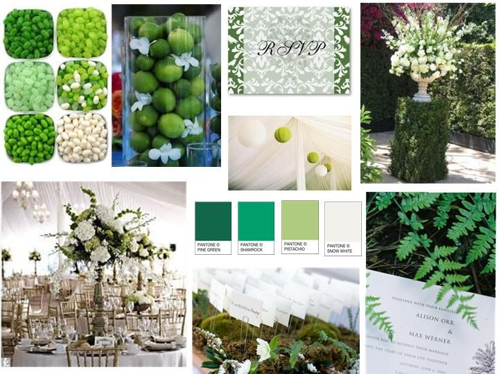 Inspiration Board: St. Patty's Day Board : PANTONE WEDDING Styleboard : The Dessy Group