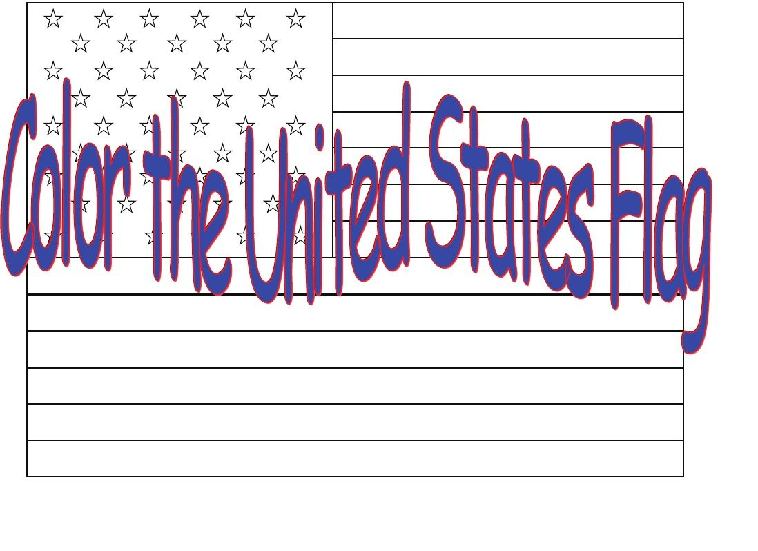 Color The United States Flag