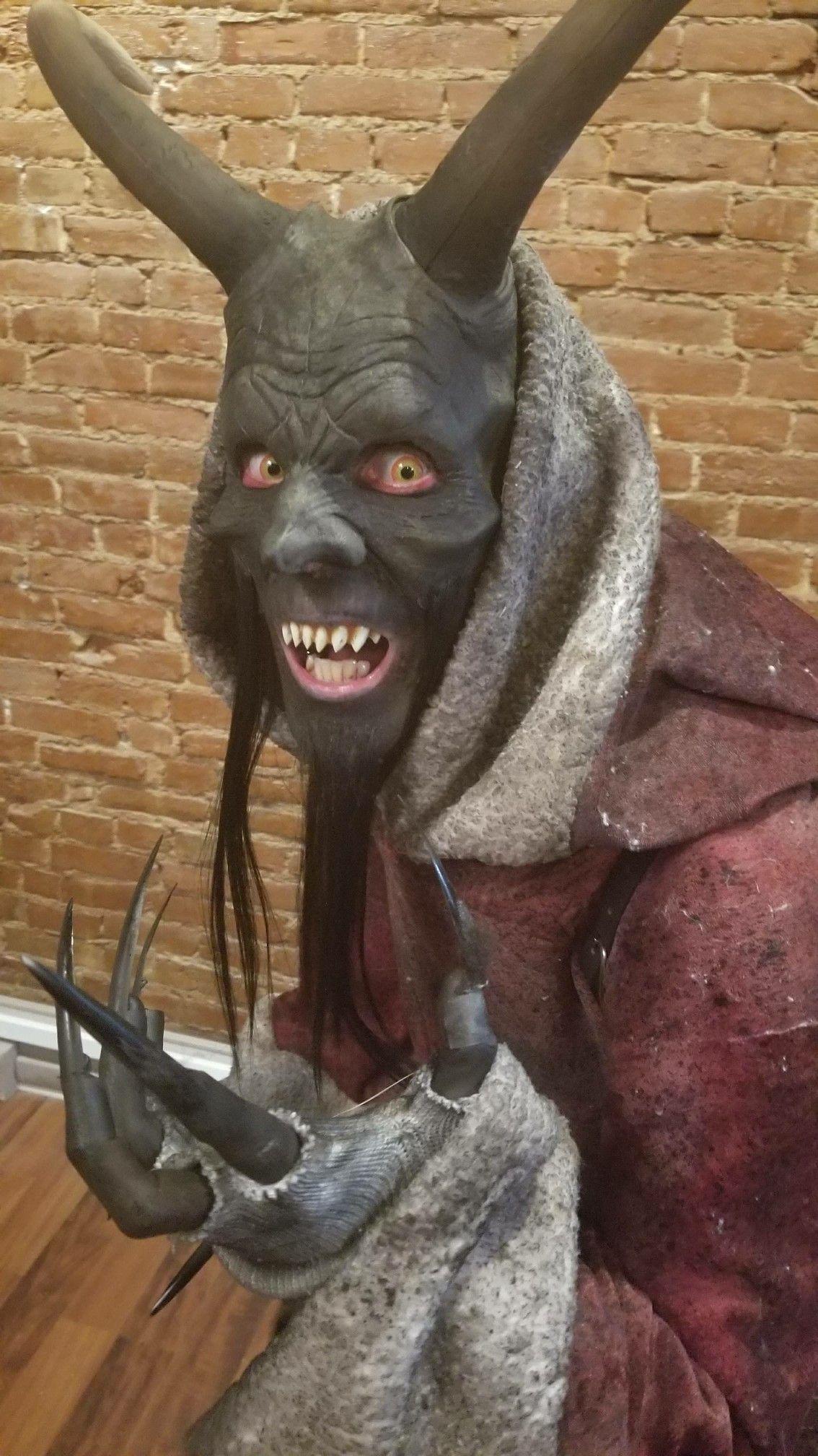 Lucas Turner as Krampus. Makeup by Justin Fears.