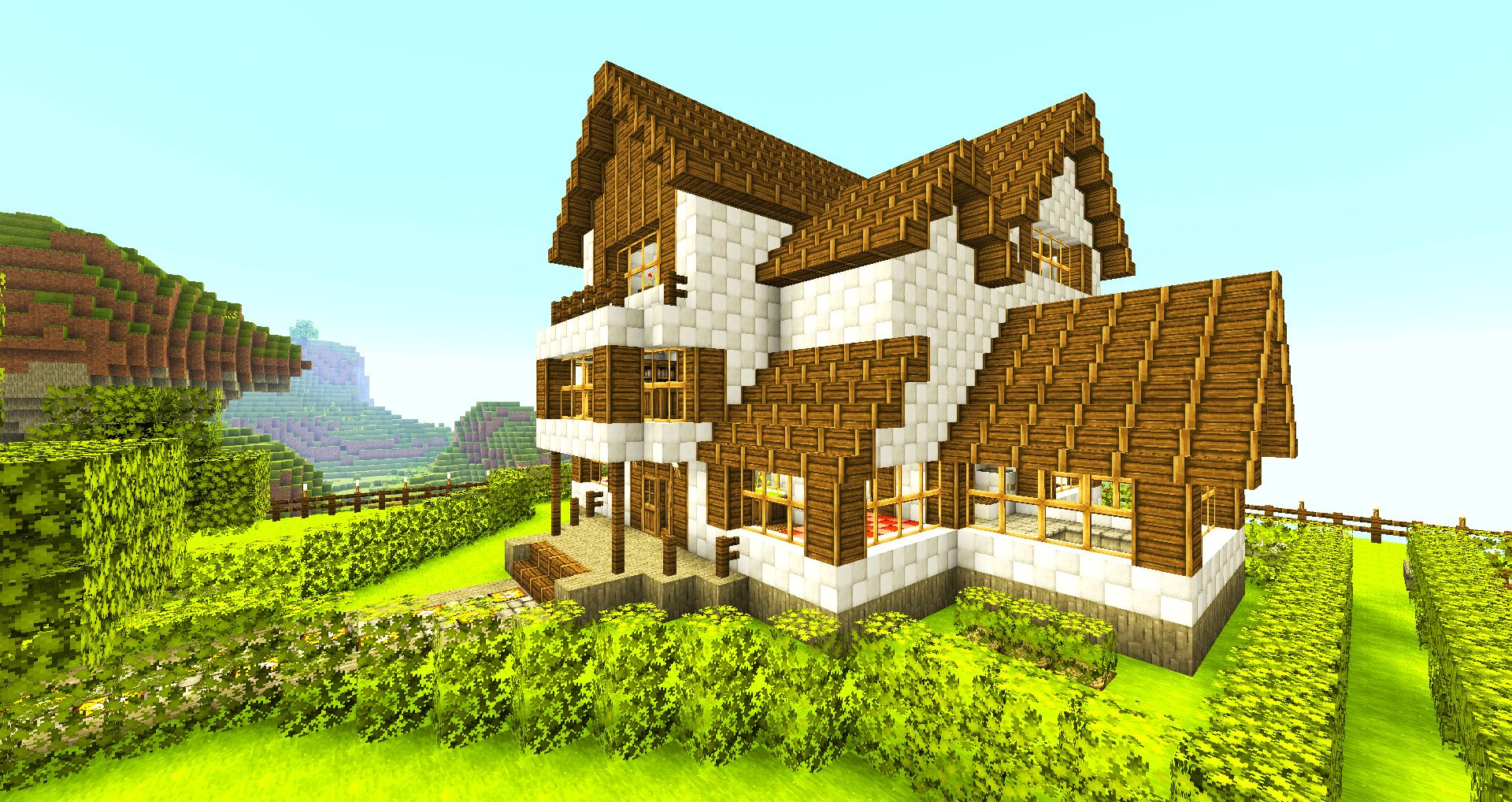 Creative houses in minecraft