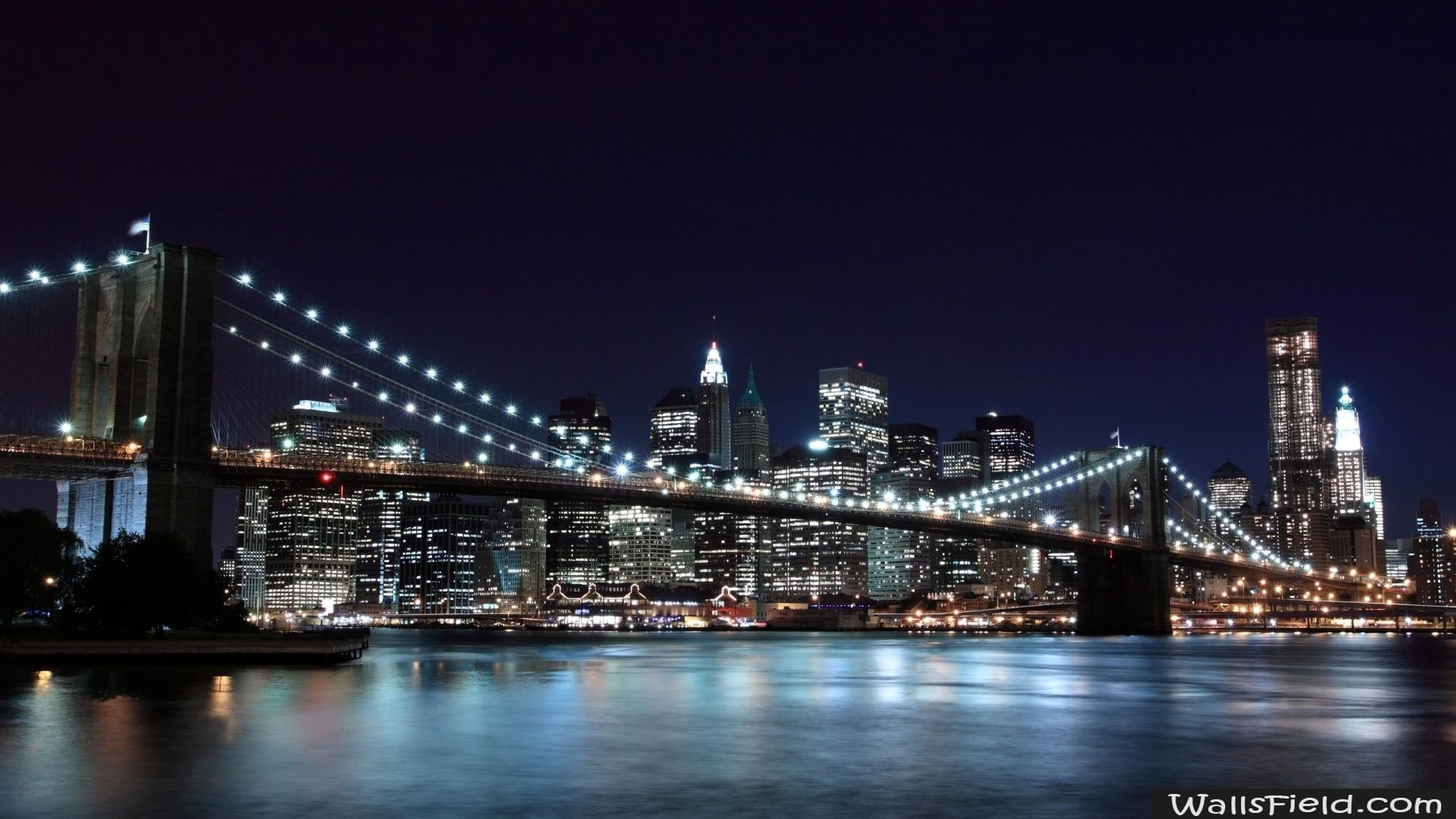 New York City Wallsfield Com Free Hd Wallpapers Brooklyn Bridge New York Bridge Wallpaper New York Wallpaper