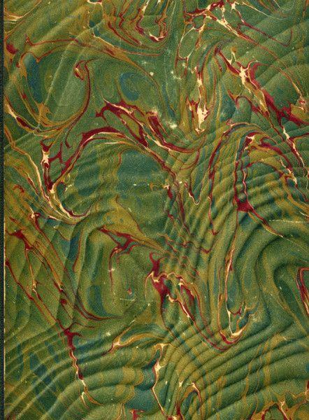 Vintage 19th c. marbled paper, Spanish moiré pattern