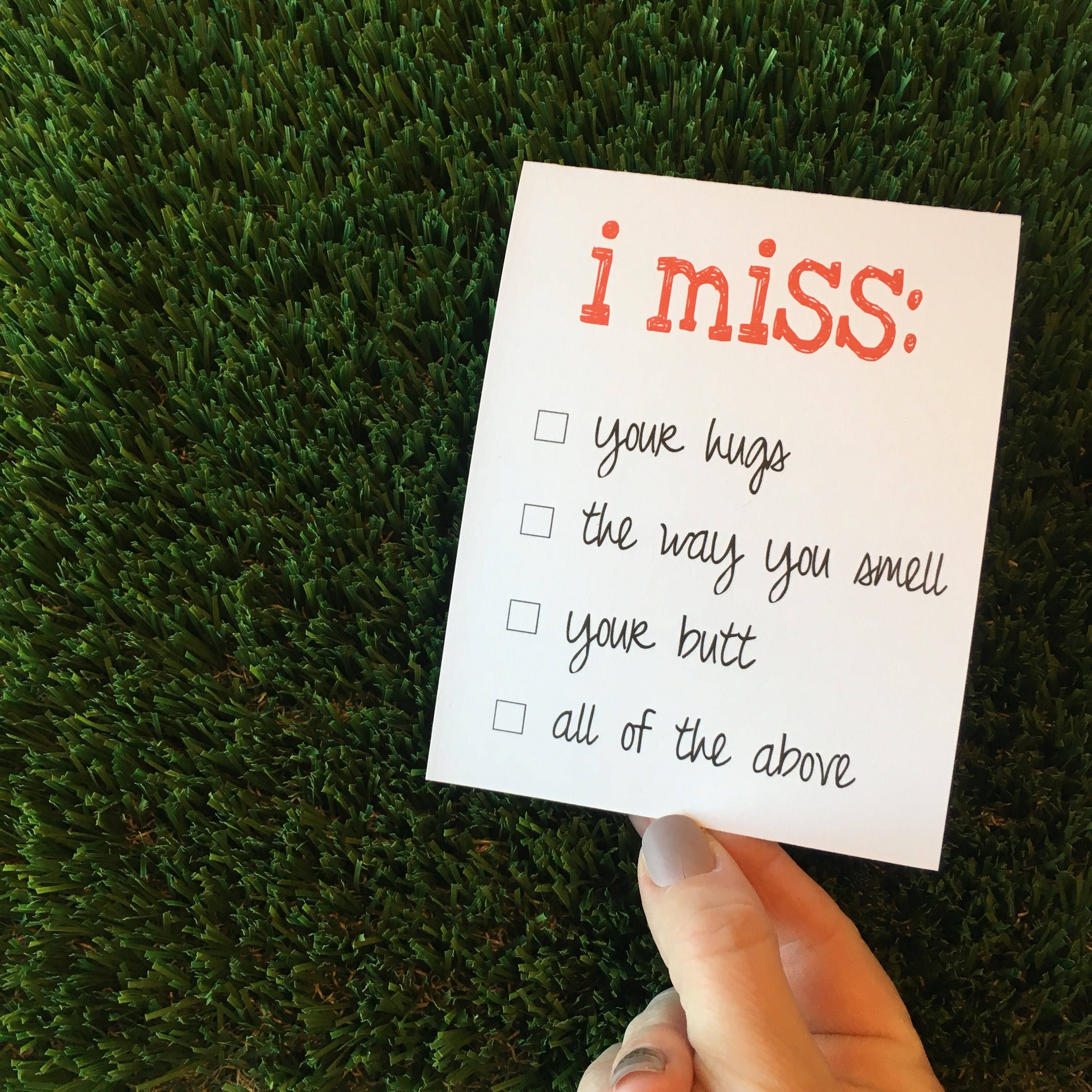 I miss you card / missing you card / Funny ldr card / LDR