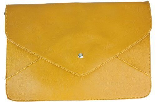 Girly Handbagss Oversized Envelope Clutch Bag Flat Faux Leather Evening Bag Extra Large Vintage - Yellow Mustard - W 10 ,H 5.5 ,D 2 inches Girly Handbags, http://www.amazon.co.uk/dp/B00A20ZR1U/ref=cm_sw_r_pi_dp_zGiVrb0945HS8