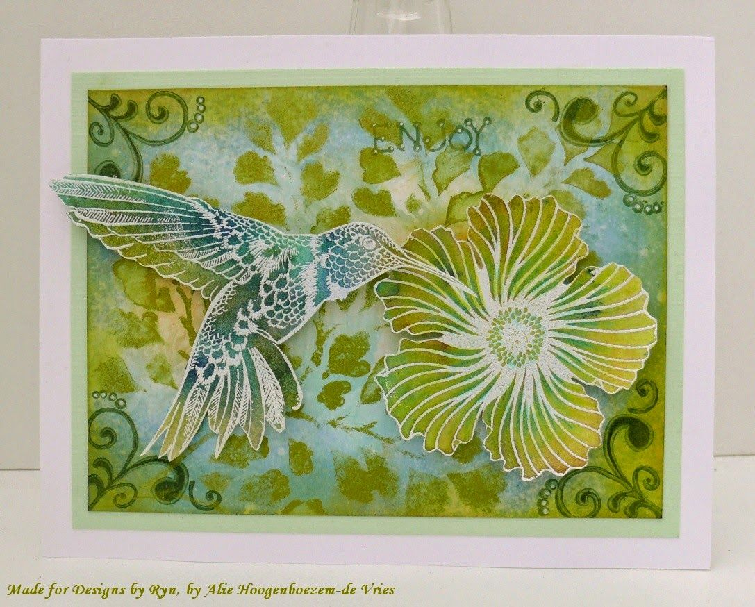 Alie Hoogenboezem-de Vries: Designs by Ryn  nature stamps and stencil