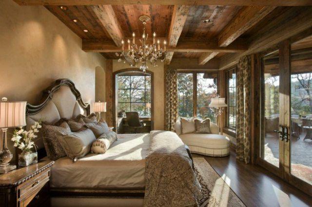 L\'esprit montagne reflété dans une chambre rustique | Chambres ...