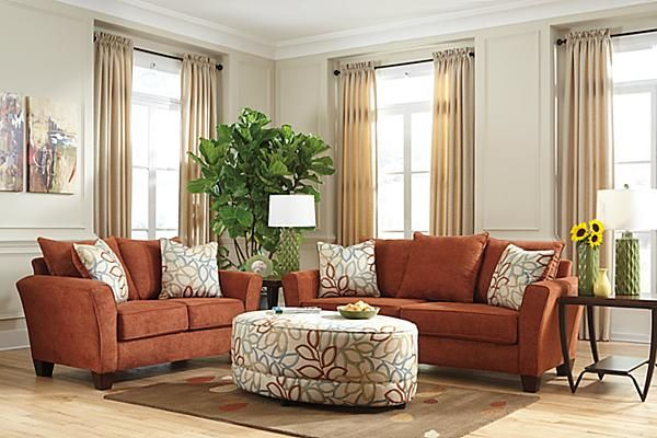 The Corson Sofa From Ashley Furniture Homestore Afhs Com The Corson Rust Upholstery Collection Beautifully Ashley Furniture Furniture Furniture Homestore