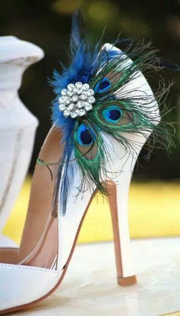 plumas pavo real zapatos   boda   peacock shoes, wedding shoes y shoes