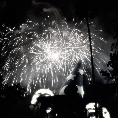 "@lenijb took this shot of fireworks at Walt Disney World's ""Symphony in the Stars"" celebration."